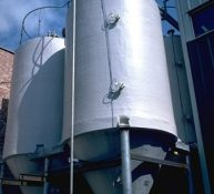 Forbes GRP Silo with Conical Coned Base for Complete Drainge with Valves
