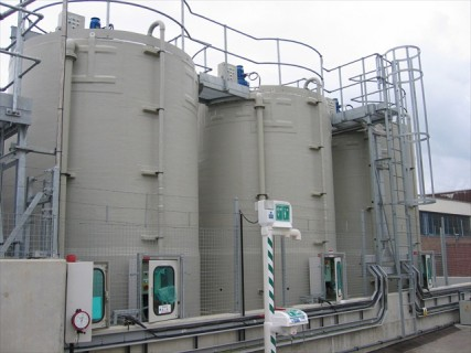 Spiral wound GRP storage tank manufacturers, 200 - 200,000 litre capacity chemical resistant tanks used for food and water storage to oil and gas.